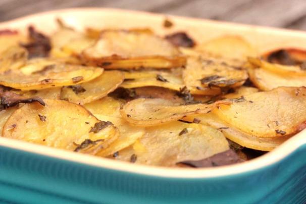 Vegan Potato and Mushroom Gratin   What Would Cathy Eat?