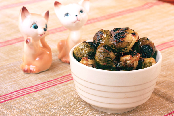 Roasted Brussels Sprouts with Maple-Mustard Glaze | What Would Cathy ...