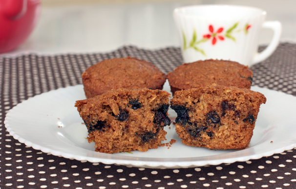 Blueberry oat muffins vegan or not what would cathy eat - Garden lites blueberry oat muffins ...