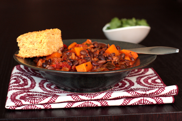 Black bean chili with butternut squash | What Would Cathy Eat?