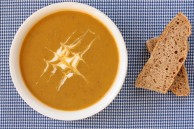 Sweet potato apple lentil soup
