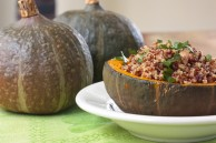 healthy thanksgiving stuffed squash