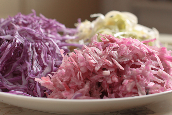 Braised red cabbage with beets