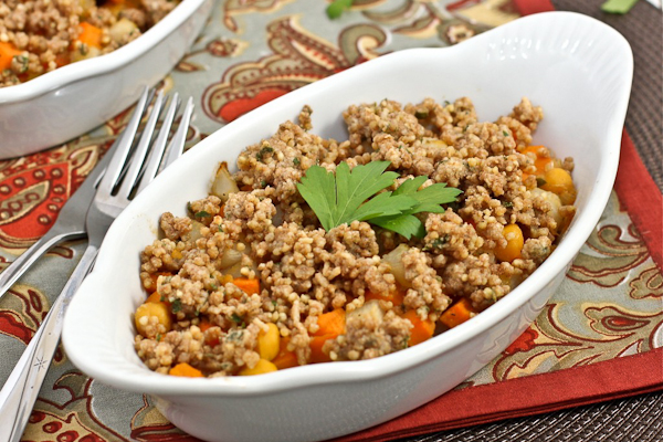 Savory root vegetable crumble