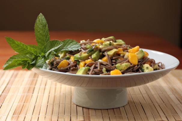 Mango Avocado Soba Noodle Salad