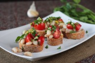 white bean tomato bruschetta