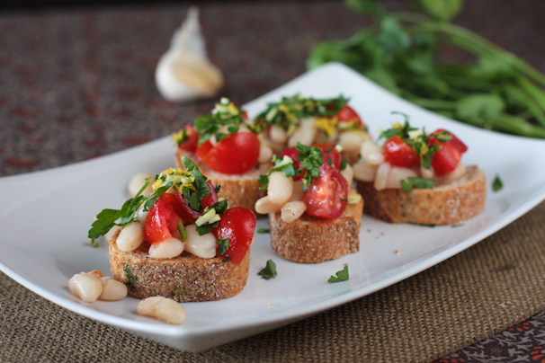 White Bean Bruschetta with Tomatoes and Gremolata Recipe | What Would ...