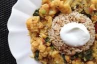 Red lentil vegetable curry