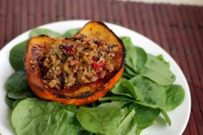 Carnival Squash Stuffed With Cranberry-Maple Quinoa and Beans from The Taste Space