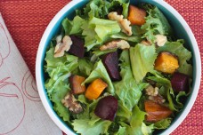 My Winter Green Salad with Butternut Squash and Beets