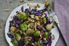 Brussels Sprouts with Cabbage and Toasted Almonds from What's Cooking Good Looking