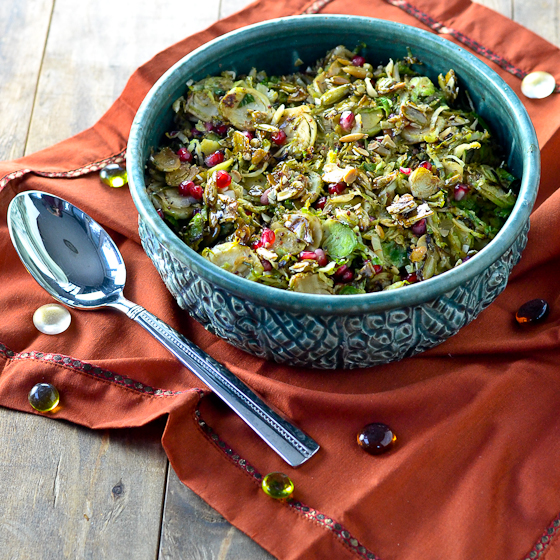 caras Maple-Mustard-Brussels-Sprouts-with-Pepitas-and-Pomegranate-Seeds-@Caras-Cravings-1