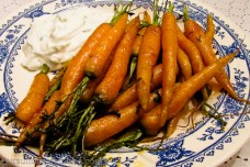 Sweet Curry Carrots with Yogurt Sauce from Pursuit of Vegetables
