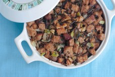 My Wild Rice and Bread Stuffing with Roasted Grapes
