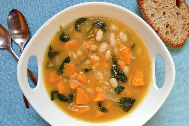 White Bean and Vegetable Soup with Spinach Pistou advise
