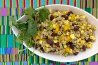 Farro salad with corn