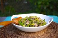 vegan mushroom asparagus fava stew